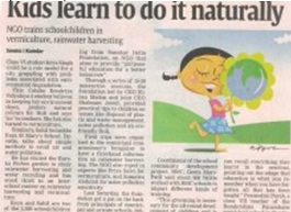 Kids learn to do it naturally