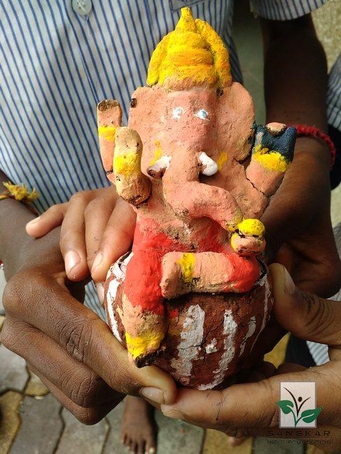 Eco Friendly Ganesha workshops in 115 schools